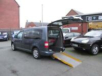 Volkswagen 1.9 tdi Caddy wheelchair accessible, disabled access, mobility car