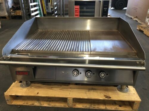 Lang 36 Inch Griddle w/ Custom Grooved Plate