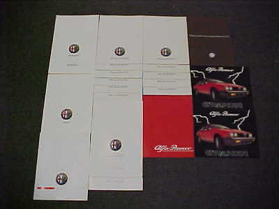 ORIGINAL ALFA ROMEO SALES LIT LITERATURE DEALER BROCHURE PROSPEKT LOT OF 22