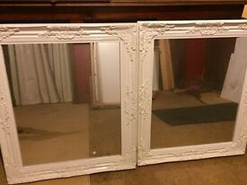 Two Mirrors, excellent condition-white framed