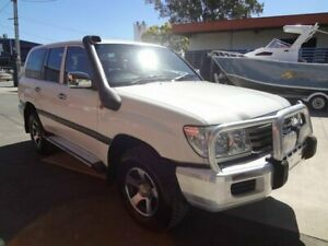2006 Toyota Landcruiser HZJ105R Upgrade GXL (4x4) White 5 Speed Manual 4x4 Wagon Coopers Plains Brisbane South West Preview