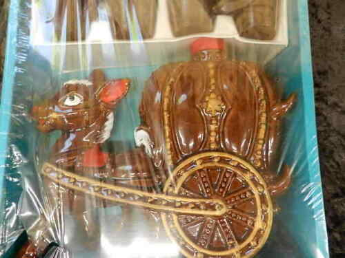 rare new sealed Vintage donkey & carriage Ceramic Liquor Decanter set with cups