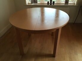 Round, extendable dinning table for sale