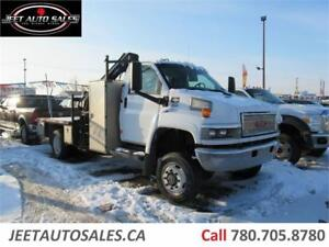 2006 GMC C 5500 4X4 Top Kick with Hiab 077 CL BOOM Truck