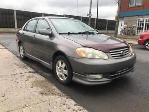 2004 Toyota Corolla Sport  TRES PROPRE POUR L ANNER     2499$