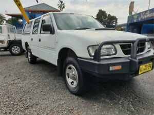 2002 Holden Rodeo TFR9 MY02 LX White 5 Speed Manual Crew Cab Pickup