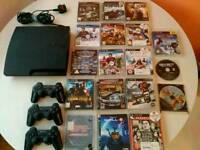 Ps3 slim, + 18 games