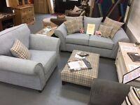 BRAND NEW 2+1+footstool sofa suite. £900