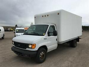 2004 FORD ECONOLINE 16FT CUBE TRUCK - DIESEL - LOW KM