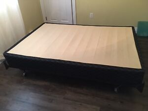 Adjustable metal bed frame with double/full boxspring