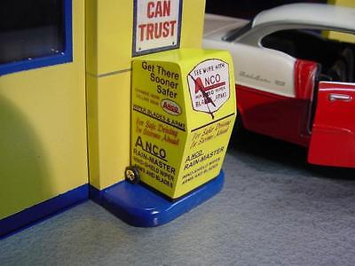 1-24 25 Scale  Anco Windshield Wiper Display Stand   gas station diorama  1950s