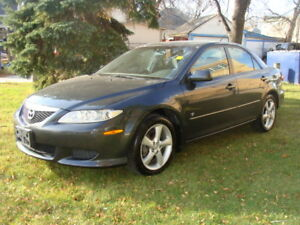 2005 MAZDA 6  GS,  MOONROOF,   EXTRA CLEAN,  SAFETIED