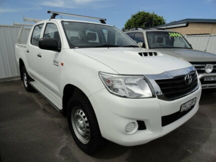 2014 Toyota Hilux KUN26R MY14 SR Double Cab White 5 Speed Manual Utility West Ballina Ballina Area Preview
