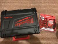 Milwaukee Fuel M18 drill set + Drillbit set