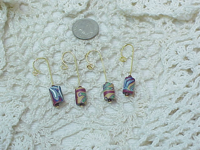 WILD COLORS CROCHET / KNITTING STITCH MARKERS set of 4