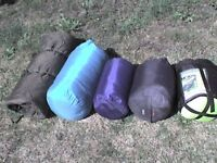 5 Adult Sleeping Bags The Green One is FREE - Heathrow