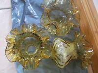 Glass Amber Globes for Ceiling Light