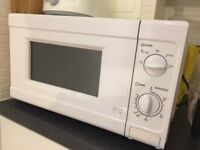 700W Microwave, less than 1 year old, very clean and good condition, available to collect 25-27 July