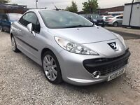 2008 Peugeot 207 CC 1.6 16v GT 2dr LOW MILES + LONG MOT+Convertible
