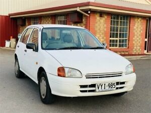 1997 Toyota Starlet Style White 5 Speed Manual Hatchback Mawson Lakes Salisbury Area Preview