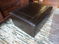 Natuzzi leather Ottoman / Coffee table