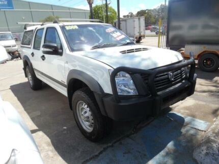 2008 Holden Rodeo RA MY08 LX (4x4) White 5 Speed Manual Crew Cab P/Up
