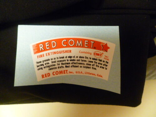 Decal / Sticker For The Red Comet  Glass Fire Extinguisher