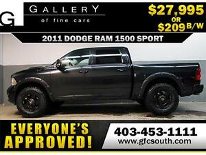 2011 DODGE RAM SPORT CREW *EVERYONE APPROVED* $0 DOWN $209/BW!