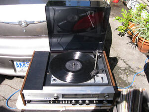 turn table - record player DUAL 1220 8mm tape radio amplifier or