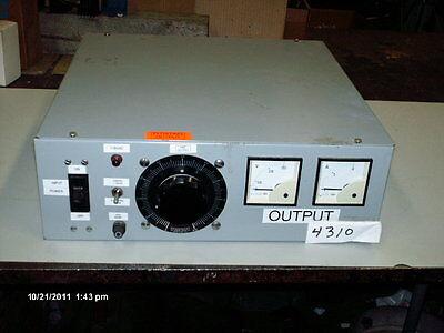 Powerstat Superiortype W5 Custom Mfg.voltage Fixture For Siemens 240v 1.5 Kva