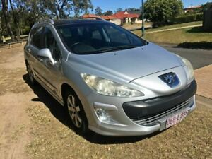2008 Peugeot 308 T7 XSE Touring Silver 6 Speed Sports Automatic Wagon Underwood Logan Area Preview