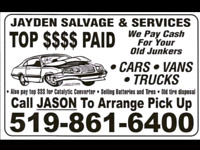 $Top Dollar Paid for your Retired Ride,Old Junkers,Farm Trucks $