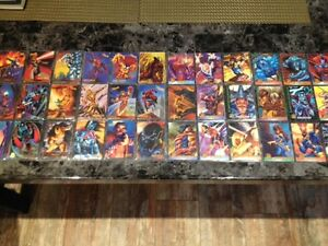 75 X-Men Fleer Trading Cards