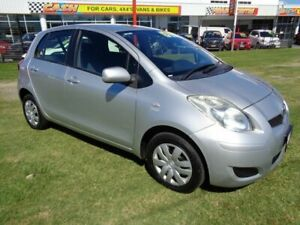 2010 Toyota Yaris NCP90R MY10 YR Silver 5 Speed Manual Hatchback Kippa-ring Redcliffe Area Preview