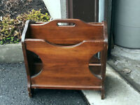 Rustic Wood MAGAZINE RACK / STAND