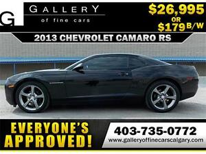 2013 Chevrolet Camaro RS V6 $179 bi-weekly APPLY NOW DRIVE NOW