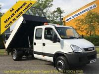 2011/ 60 Iveco Daily 70c18 3.0Hpt D/Cab Tipper+T/Lift Low Mileage DRW