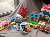 Toy bundle 1970's, fisher price etc