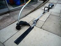 petrol strimmer/brush cuter with hedge timmer attachment