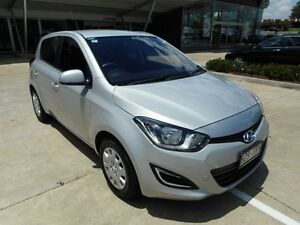2013 Hyundai i20 PB MY14 Active Silver 4 Speed Automatic Hatchback Yamanto Ipswich City Preview