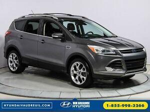 2013 Ford Escape Titanium AWD Navi Cuir Si ges Chauf. 19''