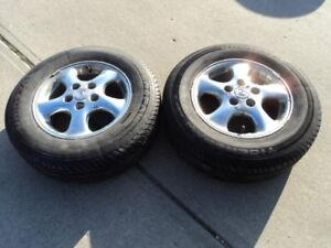 2 Uniroyal Tires with Alloy Rims for 1997-1999 Lexus ES300