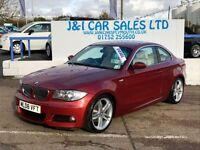 BMW 1 SERIES 2.0 120D M SPORT 2d 175 BHP (red) 2008