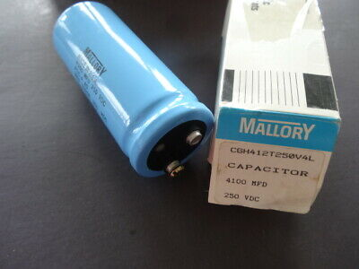 Mallory Capacitor 4100 Mfd 250 Vdc Cgh412t250v4l