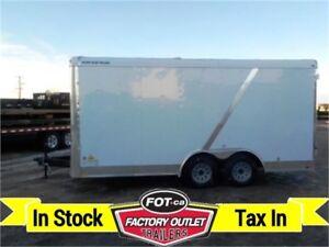 New-8.5' x 16' Enclosed Premium Cargo Trailer w/Double Doors!