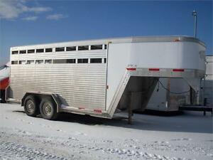 2007 EXISS 16' STOCK TRAILER AT JENSEN TRAILERS