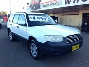 2006 Subaru Forester MY06 X White 5 Speed Manual Wagon Broadmeadow Newcastle Area Preview