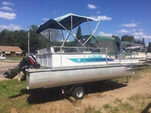 ***CHEAP CHEAP CHEAP *** 18.5' LOWE PONTOON WITH 2006 25HP