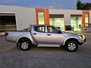 2013 Mitsubishi Triton MN MY13 GLX Double Cab Silver 5 Speed Manual Utility