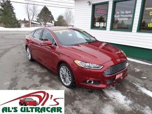 2013 Ford Fusion SE w/ NAV, Leather for $133 bi-weekly all in!